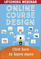 Upcoming webinar -- online course design