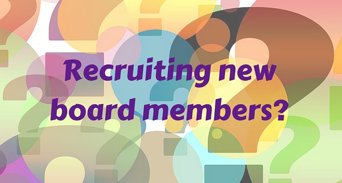 Recruiting new board members
