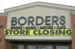 """""""Store Closing"""" sign at Borders"""